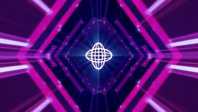 唯美梦幻的紫色灯光闪烁视频苏祠