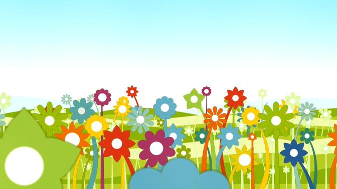 简洁绘制花卉背景视频素材