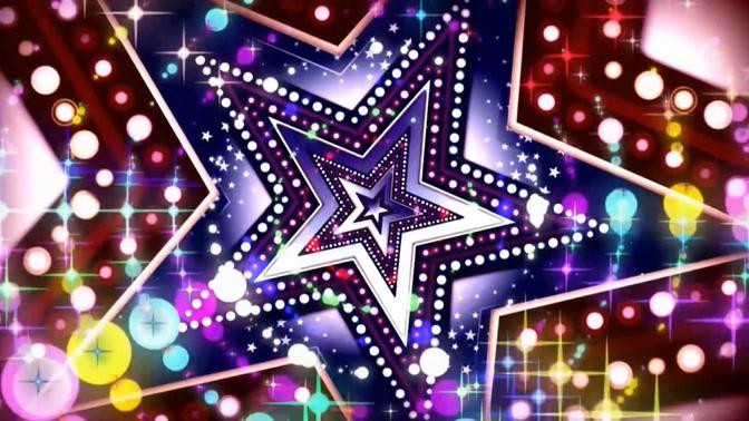 梦幻闪烁的闪亮五角星视频素材