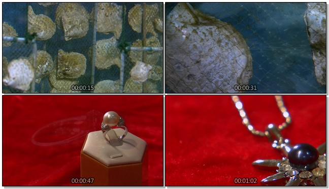 北海珍珠制成首饰的过程实拍视频