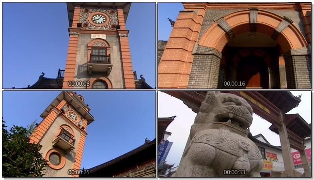 南通城市风景实拍视频