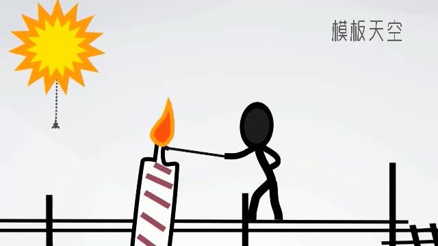 卡通动漫人物之生日开场视频片头模板