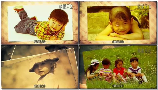 宝宝成长记录之卡通电子相册视频模板
