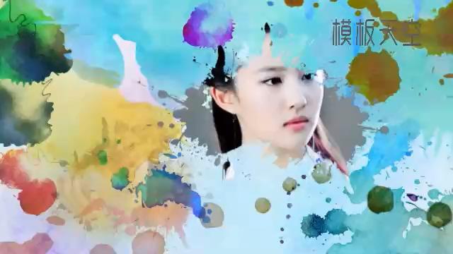 水蚀效果的中国风电子相册视频模板