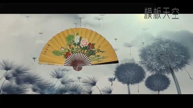 手绘中国风水墨画之游野人洞相册视频模板