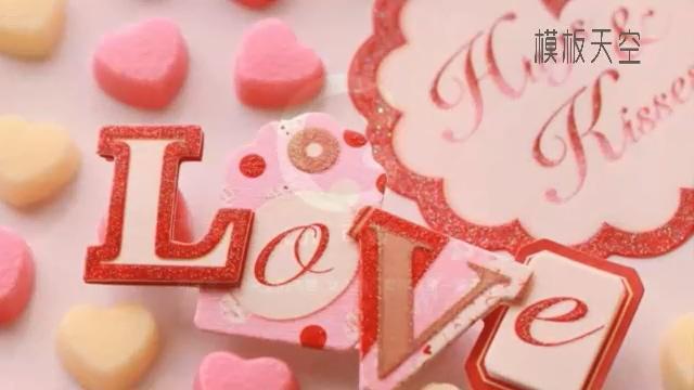MY LOVE温暖的情侣视频相册模板