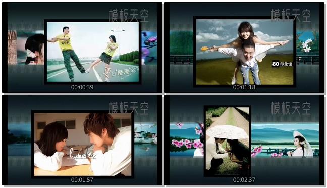男女朋友恋爱相册之中国风会声会影视频模板