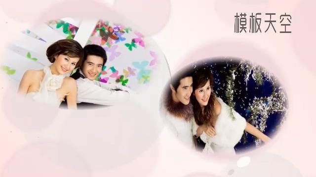 温馨的情侣婚纱照纪念相册视频模板