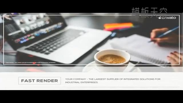 <i>灰色简洁的会声会影商务企业宣传视频模板</i>