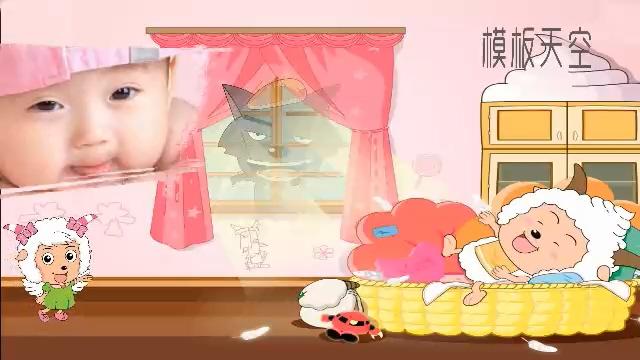 六一儿童节电子相册卡通会声会影视频模板