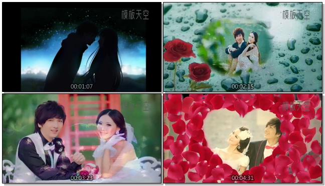 花之泪婚纱写真相册视频模板