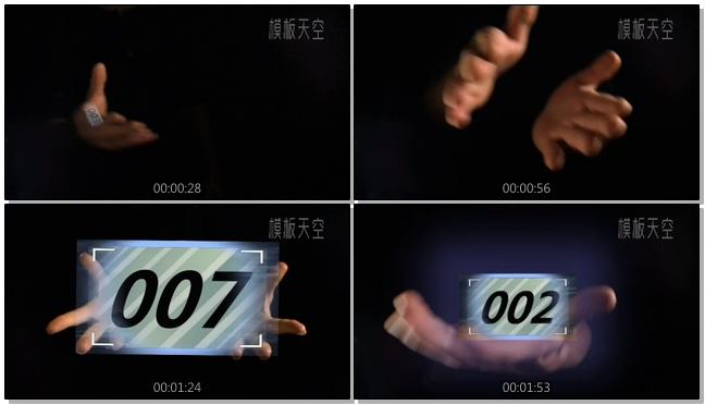 黑暗中的魔幻双手展示照片视频相册模板