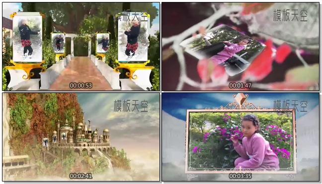 高端精美的3D电子相册婚礼爱情视频模板