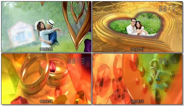幸福恋人之浪漫婚礼电子相册视频模板