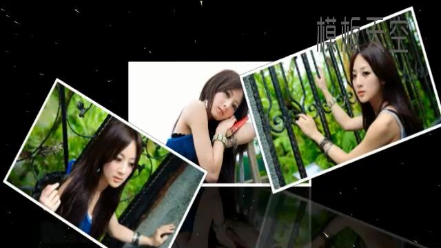 星空动态写真相册视频模板之飘落的照片