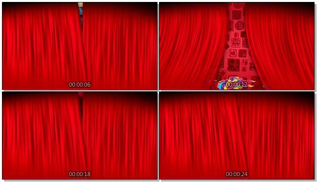 狗年大吉春节晚会舞台迎新动态视频素材