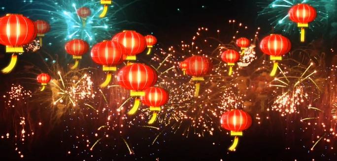 春节喜庆灯笼背景视频素材