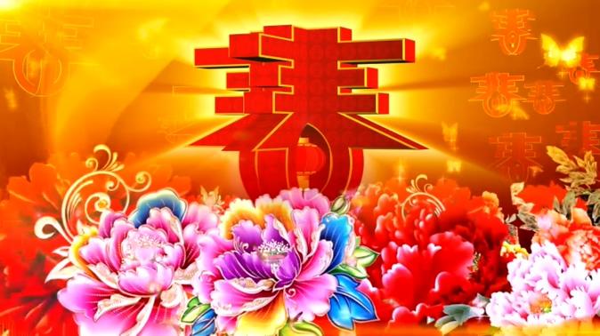 春节春暖花开背景视频素材