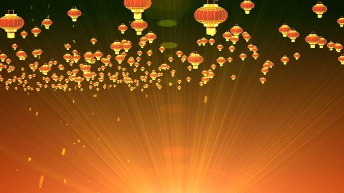 灯笼光带背景视频素材