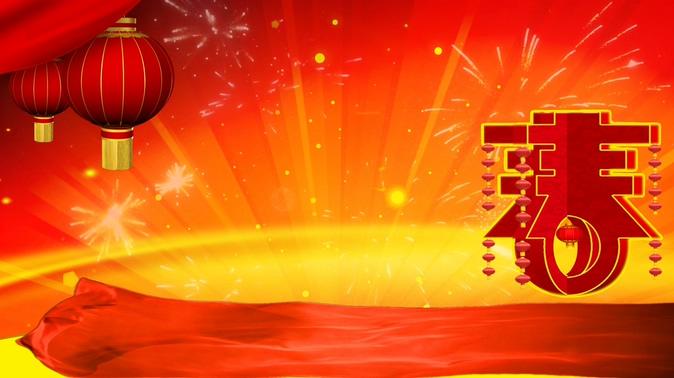 春节灯笼喜庆背景视频素材