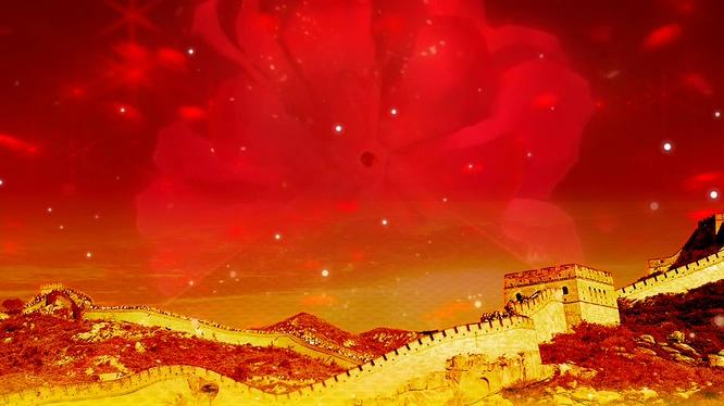 元旦春节元宵长城天空背景视频素材