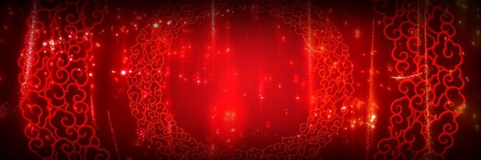 中国风喜庆红色背景视频