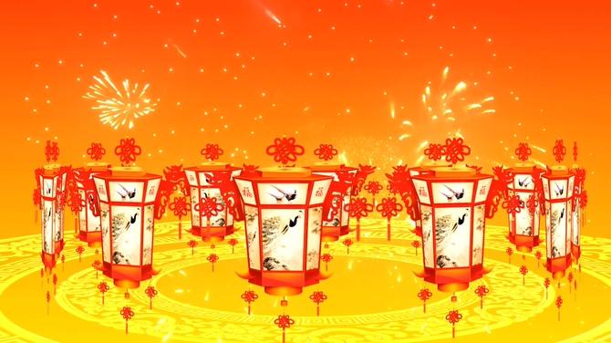 节日灯笼背景视频素材