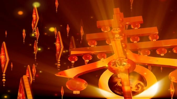 新年春节愉快背景视频素材