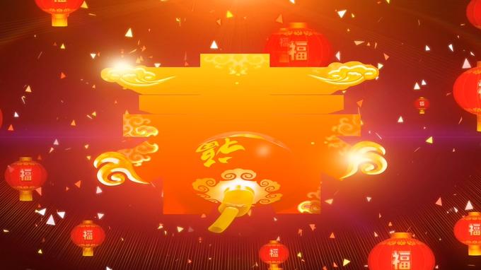 灯笼春节通用背景视频素材