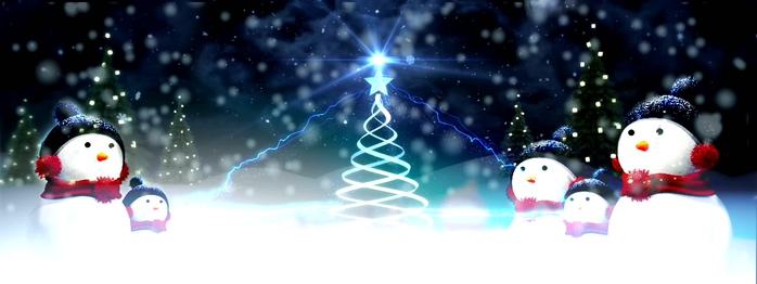 圣诞节大雪纷飞的视频素材