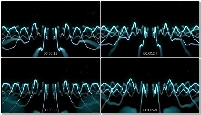 曲线白色电流灯光闪烁视频素材