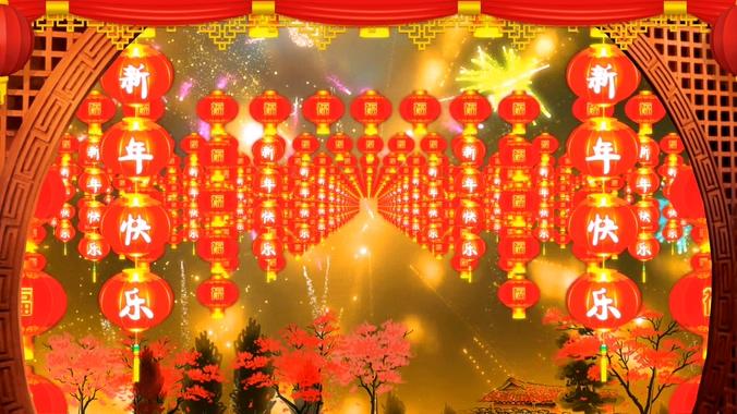春节过年背景视频素材