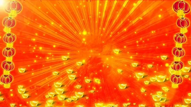 金元宝灯笼背景视频素材