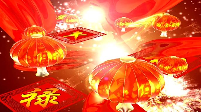 火火的中国背景视频素材