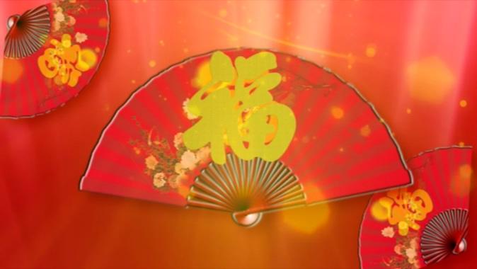 十二生肖剪纸音乐背景视频素材