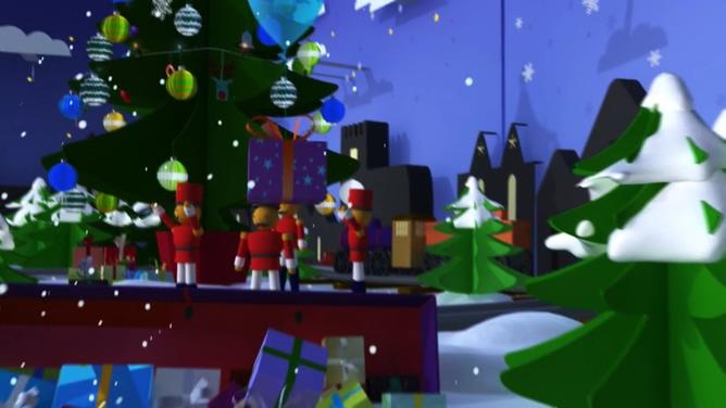动画演示喜迎圣诞节的视频素材