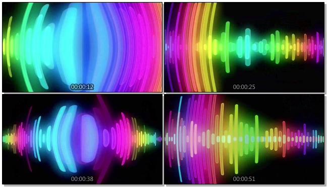 时尚动感的彩色酒吧霓虹灯闪烁视频素材