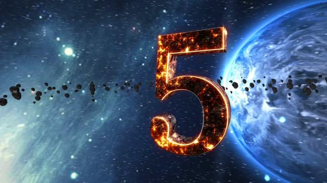 地球燃烧倒计时背景视频素材