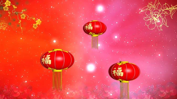 红色福字灯笼背景视频素材