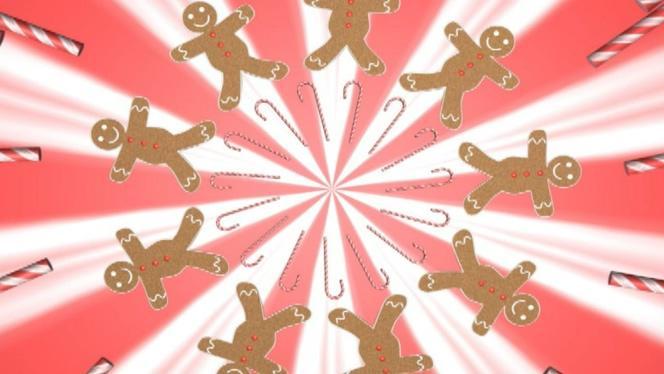 趣味精美饼干人儿童礼物视频素材