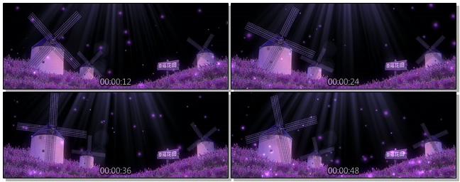 唯美梦幻的紫色婚礼开场视频素材