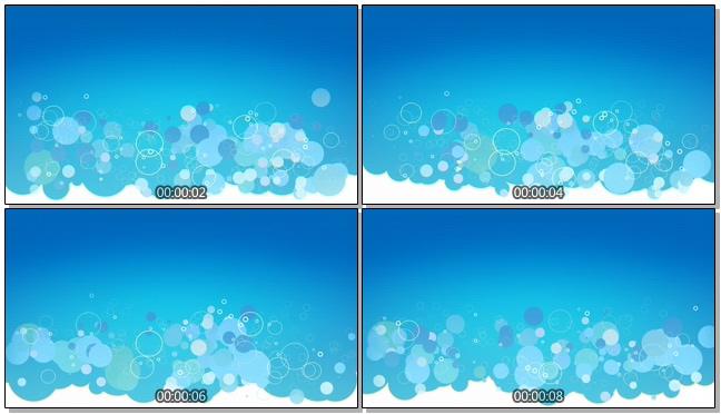 唯美梦幻的海洋气泡视频素材