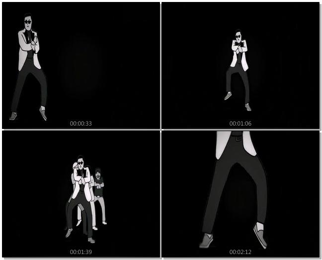 卡通素描机器人跳舞视频素材