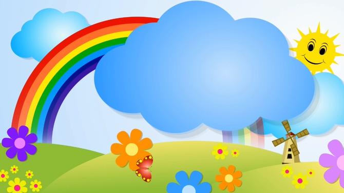 太阳彩虹儿童卡通背景视频素材