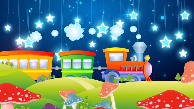 儿童节卡通火车星星背景视频素材