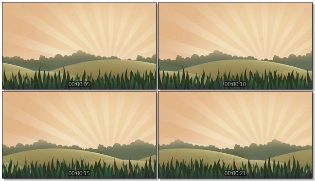 卡通太阳照射的视频素材
