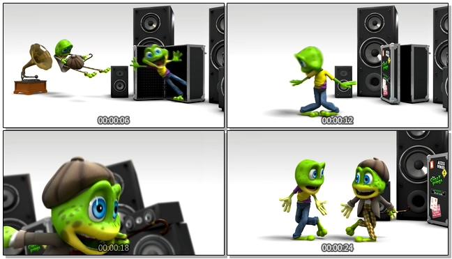 卡通青蛙跳舞的视频素材