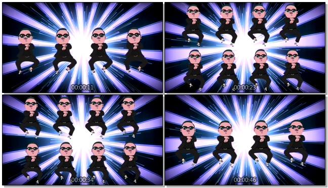 创意动漫人物跳舞视频素材