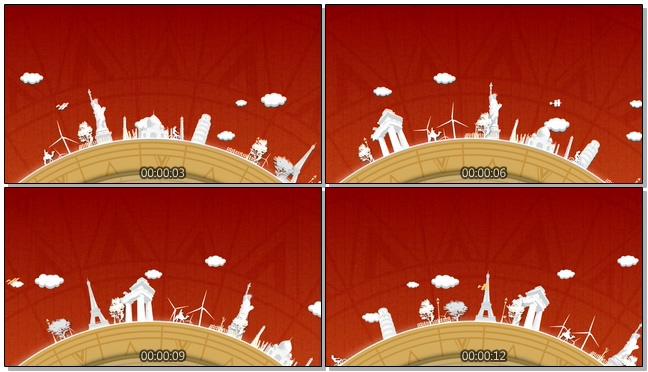 卡通白色世界视频素材