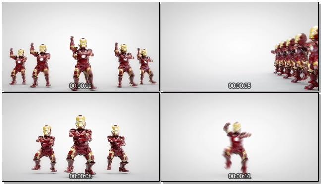 创意卡通机器人跳舞视频素材